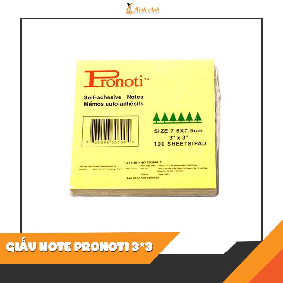 GIẤY NOTE PRONOTI 3*3