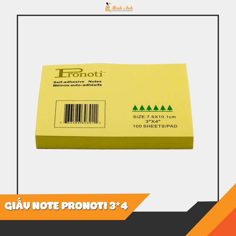 GIẤY NOTE PRONOTI 3*4