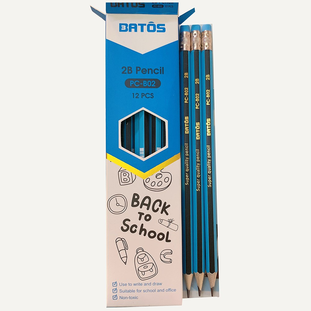 Bút chì gỗ  2B Batos Pencil PC-B02